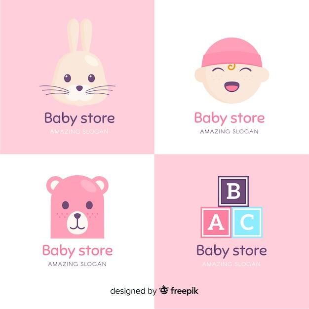 Baby logo carino Vettore gratuito