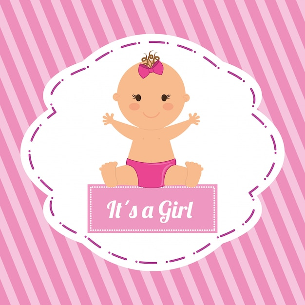 Baby shower design Vettore Premium