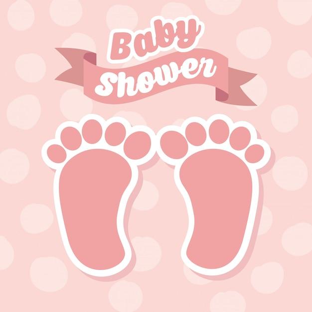 Baby shower Vettore Premium