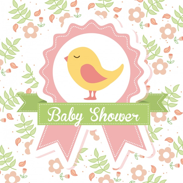 Baby shower Vettore gratuito