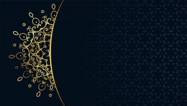 Backgroud dorato di stile del arabis del modello della mandala del arabeqsue Vettore gratuito