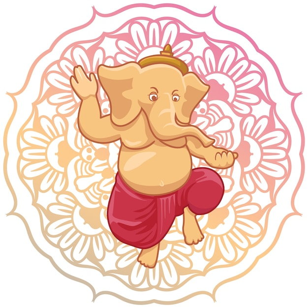 Background design ganesha Vettore gratuito