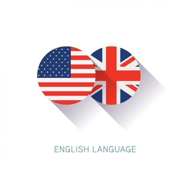 Background design inglese Vettore gratuito