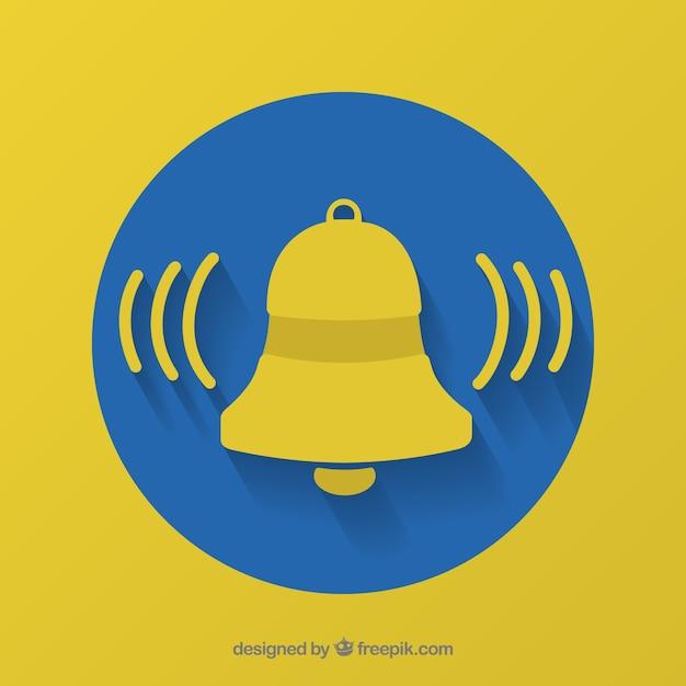 Background di notifica di campana Vettore gratuito