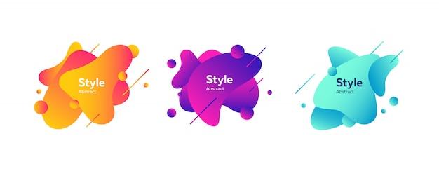 Badge creativi impostati per l'app Vettore gratuito