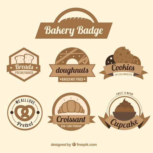 Badge da forno Vettore gratuito