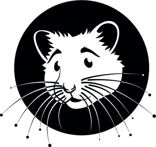 Baffi criceto cartone animato logo vettoriale scaricare