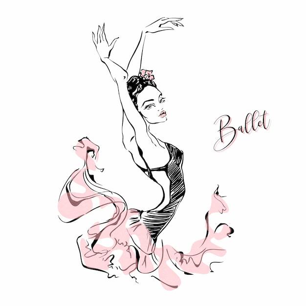 Ballerina. ballerino. balletto. carmen. Vettore Premium