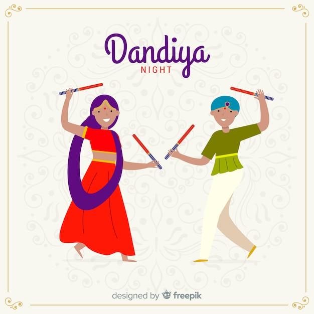 Ballerini dandiya Vettore gratuito