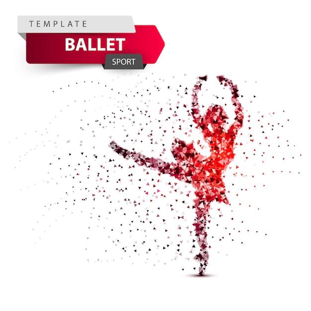 Balletto, sport, illustrazione della ragazza di dancing Vettore Premium