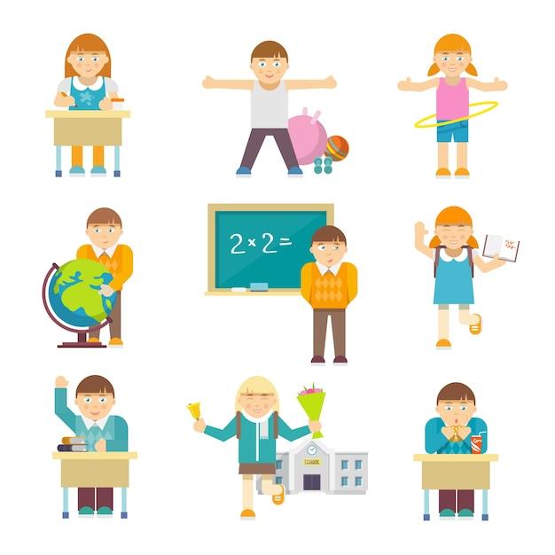Bambini a scuola Vettore gratuito