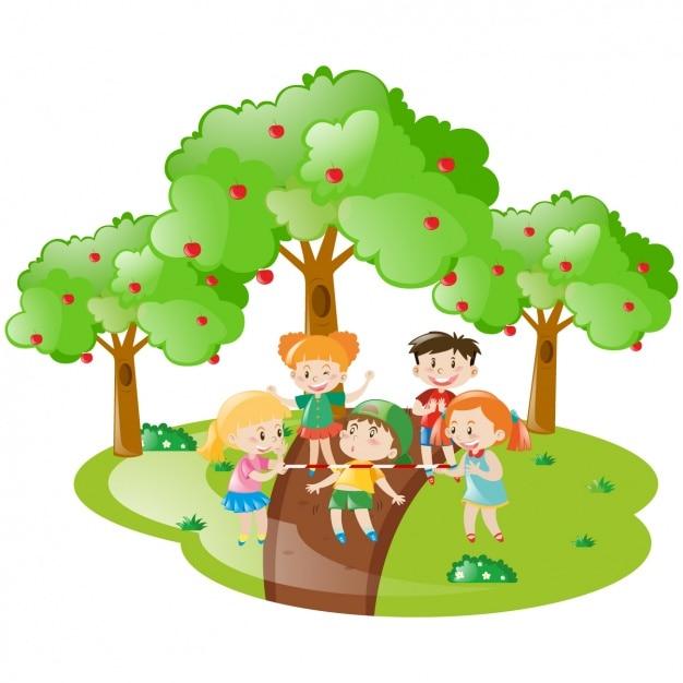 Ben noto Bambini che giocano disegno | Scaricare vettori gratis FS63