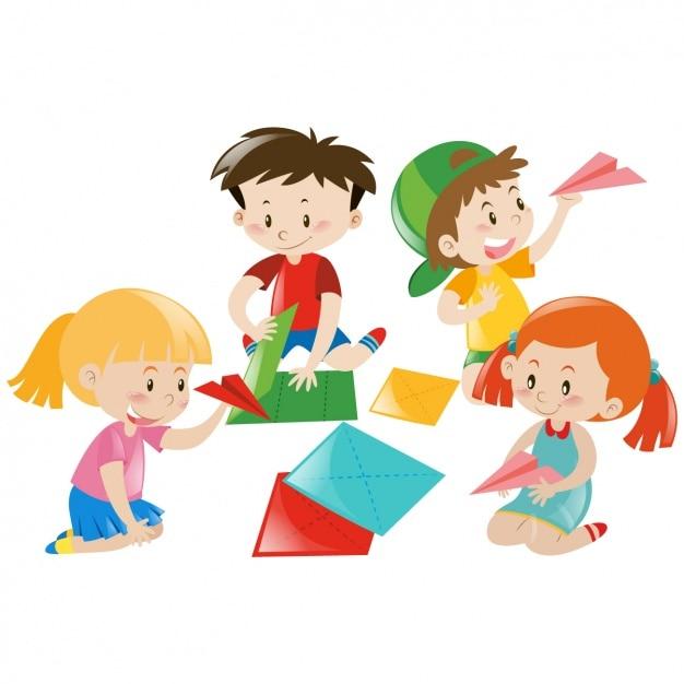 Bambini Che Giocano Disegno Scaricare Vettori Gratis