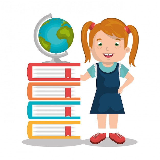Bambini che studiano Vettore gratuito
