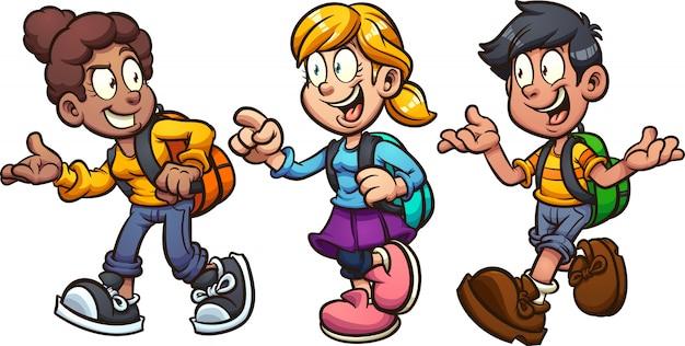 Bambini della scuola Vettore Premium