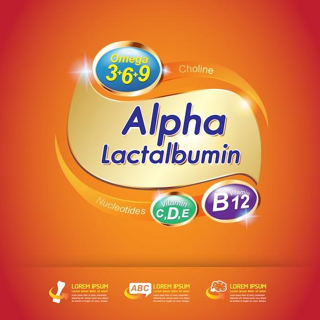 Bambini omega calcio e vitamina Vettore Premium