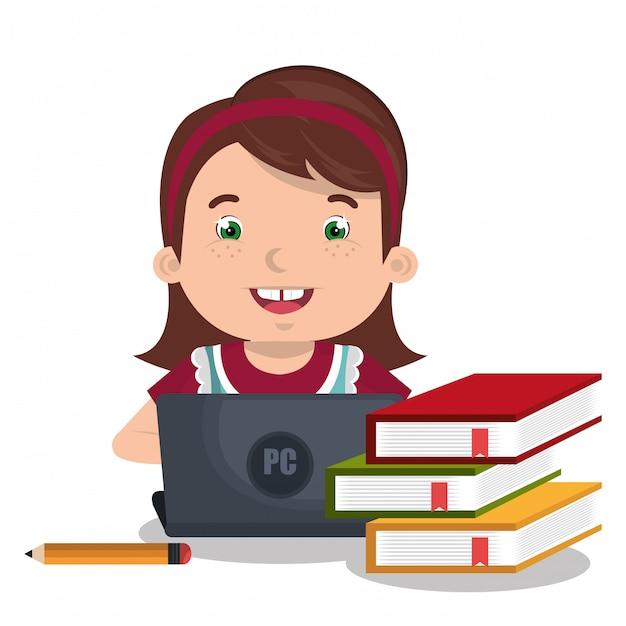 Bambini online Vettore gratuito