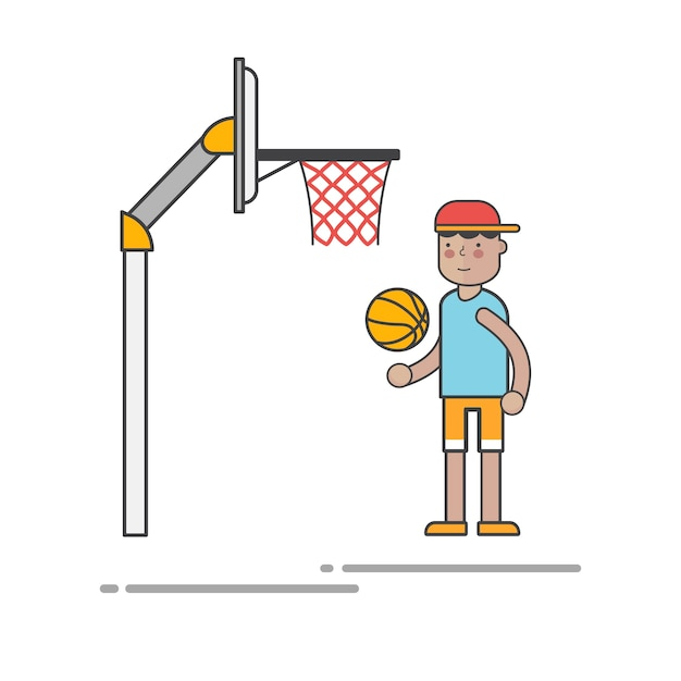 Bambino Che Gioca A Basket Scaricare Vettori Gratis