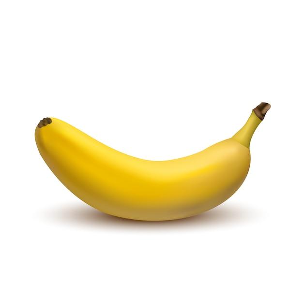 Banana di vettore 3d isolata Vettore Premium
