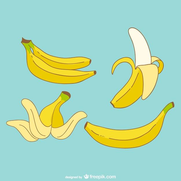 Banane vettore Vettore gratuito