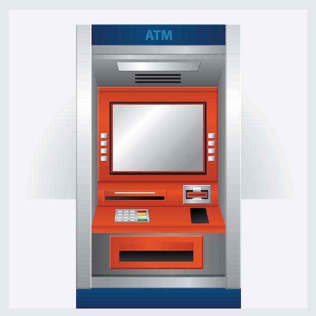 Bancomat bancomat con carta bancomat Vettore Premium
