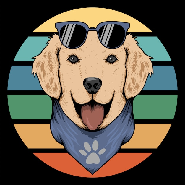 Bandana retrò cane Vettore Premium