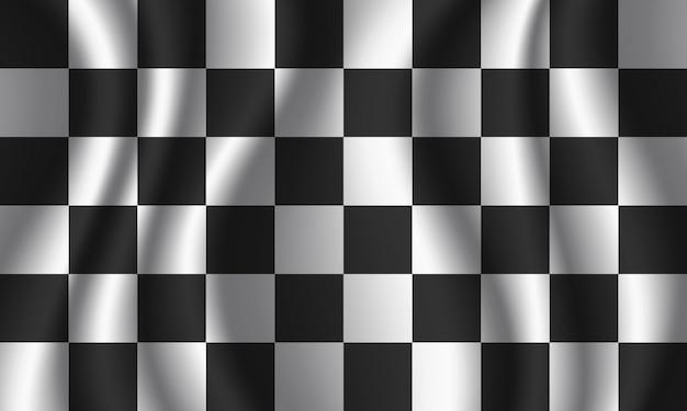 Bandiera a scacchi Vettore Premium