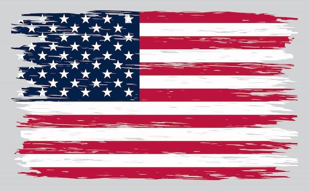 Bandiera americana del grunge Vettore Premium