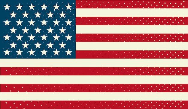 Bandiera americana Vettore Premium
