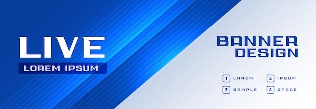 Bandiera blu professionale moderna Vettore gratuito