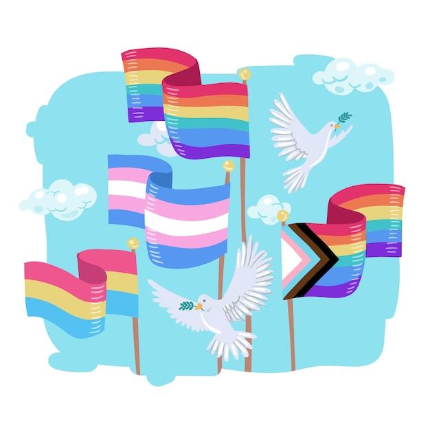 Bandiera del giorno dell'orgoglio Vettore gratuito