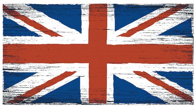 Bandiera del grunge del regno unito Vettore Premium