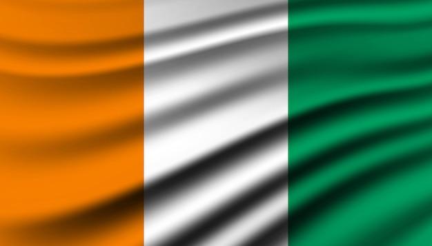 Bandiera del modello di sfondo costa d'avorio. Vettore Premium