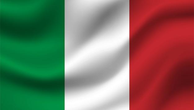 Bandiera del modello di sfondo italia. Vettore Premium