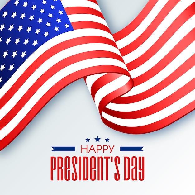Bandiera del nastro degli stati uniti per il giorno del presidente Vettore gratuito