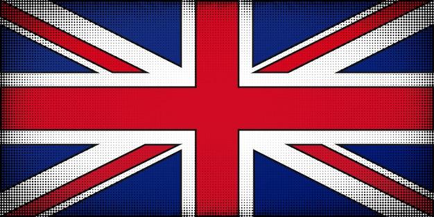 Bandiera del regno unito di gran bretagna e irlanda del nord Vettore Premium