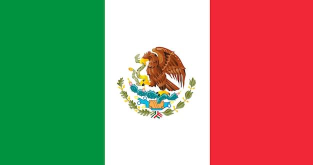 Bandiera dell'illustrazione del messico Vettore gratuito