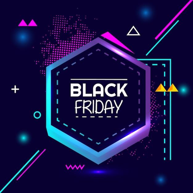 Bandiera della geometria creativa di vendita speciale flash venerdì nero Vettore Premium