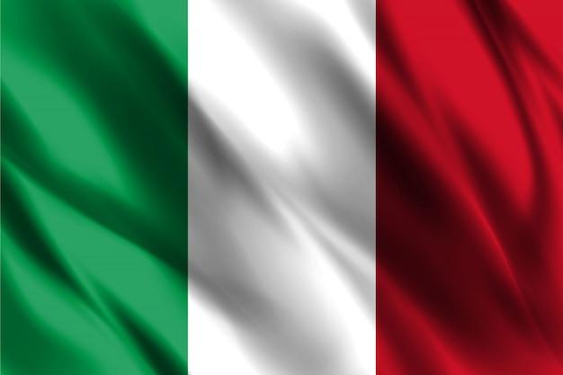 Bandiera della repubblica italiana Vettore Premium