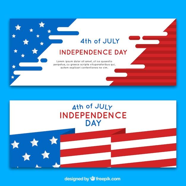 Bandiera di giorno di indipendenza design bandiera Vettore gratuito