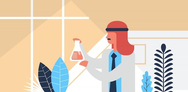 Bandiera di lavoro ricercatore maschio arabo Vettore Premium