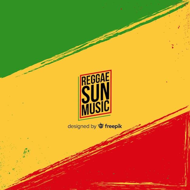 Bandiera di sfondo reggae Vettore gratuito