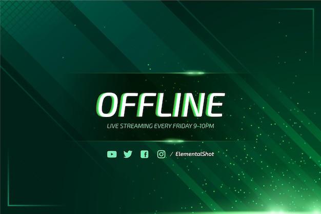 Bandiera di twitch offline astratta con particelle al neon Vettore gratuito