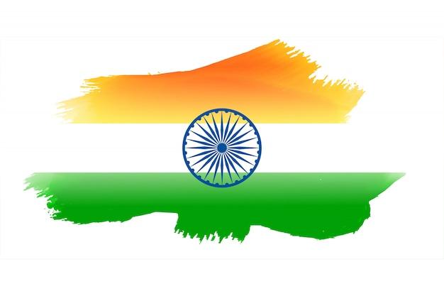Bandiera indiana realizzata con acquerello Vettore gratuito