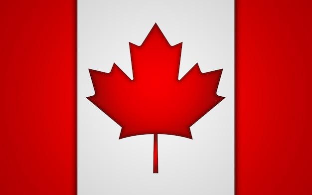 Bandiera nazionale del canada. Vettore Premium
