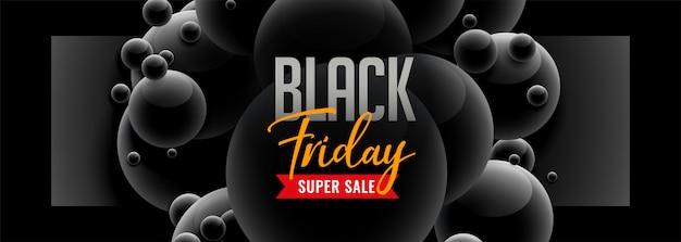 Bandiera nera di vendita di stile 3d di venerdì Vettore gratuito
