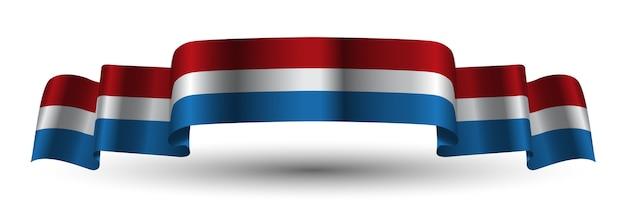 Bandiera Olandese Del Nastro Bianco Blu Rosso Olandese Scaricare