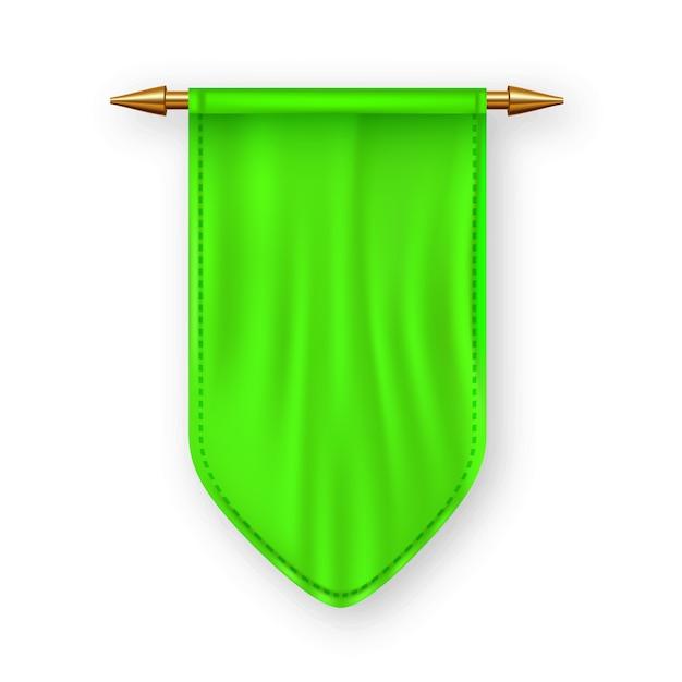 Bandiera pennat verde Vettore Premium