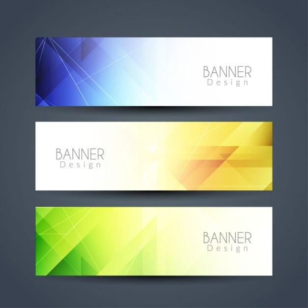 Bandiere astratte moderne colorati insieme scaricare for Immagini astratte moderne