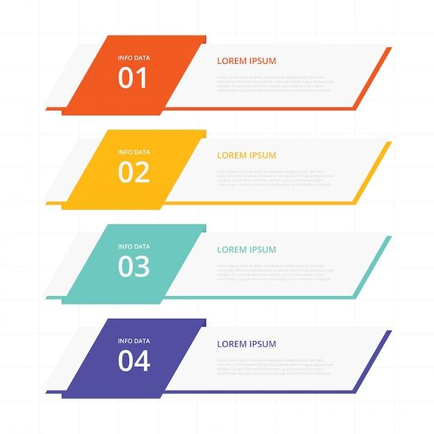 Bandiere bandiere infographic Vettore Premium